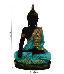 Buy Polyresin Meditating Lord Buddha - Green birthday-gift online