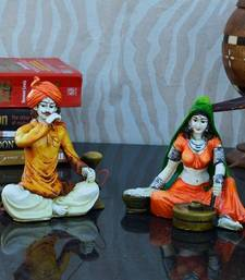 Buy Combo of Rajasthani Hookah Man and Lady Statue new-year-gift online