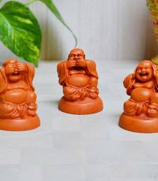 Buy Polyresin Set of 3 Laughing Buddha - Brown new-year-gift online
