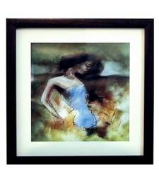 Buy Love Scene Satin Matt Texture Framed UV Art Print painting online