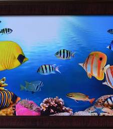 Buy 3D Sea Life view Design Satin Matt Texture Framed UV Art Print painting online