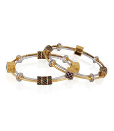 Buy Dazzling Gold plated antique bangle bangles-and-bracelet online