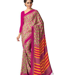 Buy Pink and Beige printed silk saree with blouse silk-saree online