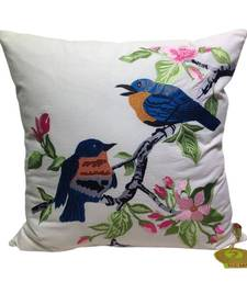 Buy Blue Birds Embroidered Cushion Cover pillow-cover online