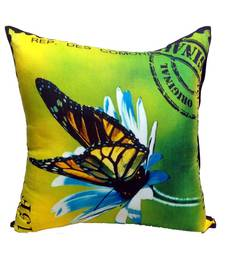 Buy Digital Butterfly Print Neon Lime Cushion Cover  pillow-cover online