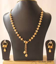 Buy GORGEOUS GOLD TONE UNIQUE DESIGN GOLDEN BALLS TRENDY FASHION JEWEL SET necklace-set online