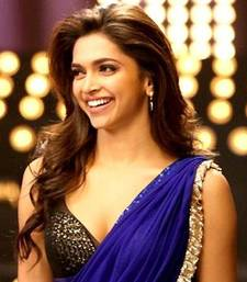 Buy Deepika Bollywood Replica Blue Gearogette Saree by Adiva deepika-padukone-saree online