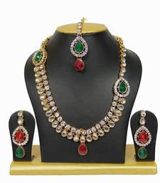 Buy multicolour traditional necklace set necklace-set online