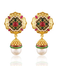 Buy Charismatic Gold plated antique jhumka jhumka online