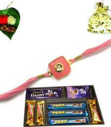 Buy Buy Online Royal Rakhi with Cadbury Bournville fine dark chocolate rakhi-with-chocolate online