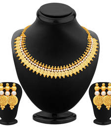 Buy Exotic Gold Plated Temple Jewellery Necklace Set necklace-set online
