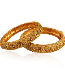 Buy Fabulous Gold plated Antique Bangle bangles-and-bracelet online