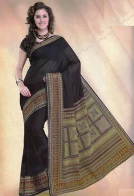 Elegant mal mal cotton saree with blouse piece d.no PW110