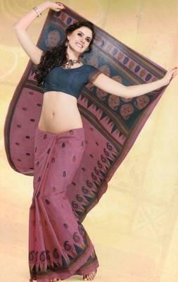 Elegant mal mal cotton saree with blouse piece d.no pw125