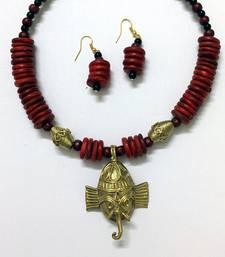 Buy Dhokra Kat Hansuli Jewellery Set necklace-set online