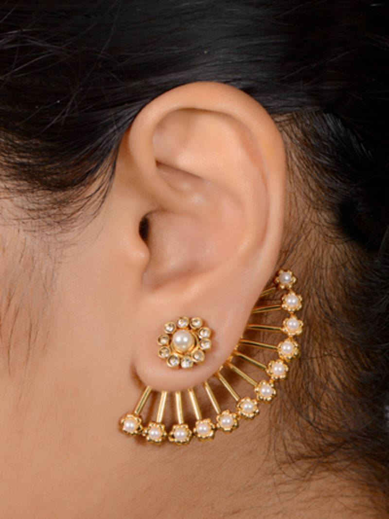 Buy Antique 2 in one stud cum ear cuff Online