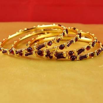 gold moti stone cz polki kundun meenakari pearl bangle kara size-2.2,2.4,2.6,2.8