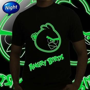 Thayam Angry Face Mens Radium Tshirt at Offer,Guys Special Effect Tshirt