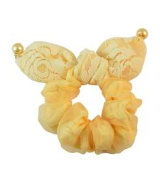Buy Yellow Fabric Hair Rubber Band for Women Other online