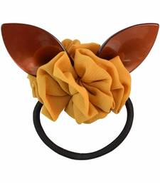 Buy Plain Black Fabric Hair Rubber Band for Women Other online