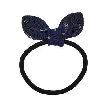 Plain Black Fabric Hair Rubber Band for Women