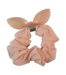 Buy Plain Orange Fabric Hair Rubber Band for Women rubber-hair-band online