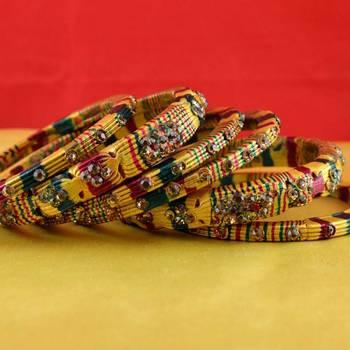 rajasthani lakh bangles muti coulor  stone size-2.6