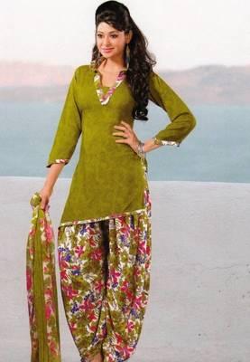 Dress Material Crepe Unstitched Patiala Salwar Kameez Suit D.No 6153