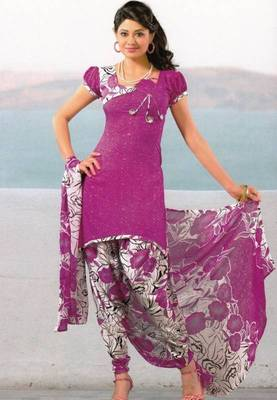 Dress Material Crepe Unstitched Patiala Salwar Kameez Suit D.No 6156