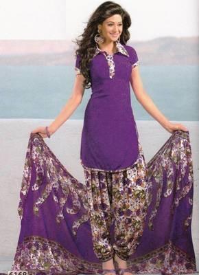 Dress Material Crepe Unstitched Patiala Salwar Kameez Suit D.No 6168