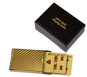 Playing Cards with 22 carat gold with certificate