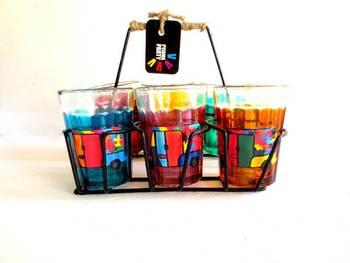 Quirky kitsch cutting chai sets-Rickety Rickshaws