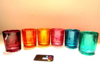 Down it!!-Hand-painted shot glasses-Textured
