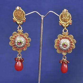 Designer Copper Golden Earring
