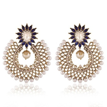 Gleaming Gold Plated Jewellery Earrings For Women
