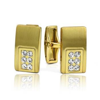 Mahi Gold Liana Cufflinks with Swarovski Elements