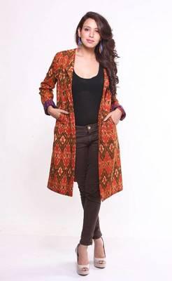 Ethnic Cotton Ikat Jacket