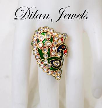 Blissful Peacock Ring
