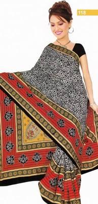 Elegant cotton saree with blouse piece d.no ps118