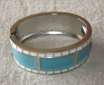 Trendy Openable Bangle in Sky Blue