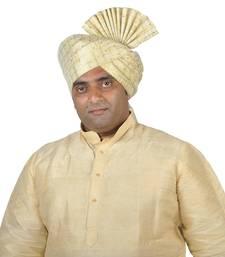 Buy Jari Tickli Cream Kolhapuri Pheta Turban turban online