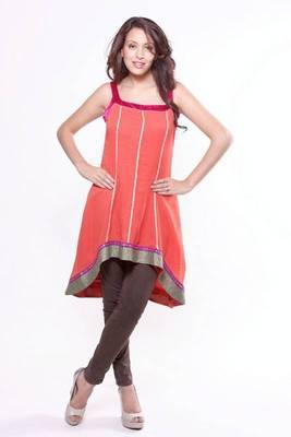 Ethnic Asymmetrical Sleeveless Tunic