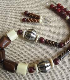 Buy Ethnic necklace /Camelbone beads necklace-set online