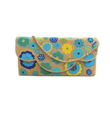 Buy Pearly Floral Clutch (Gold) clutch online