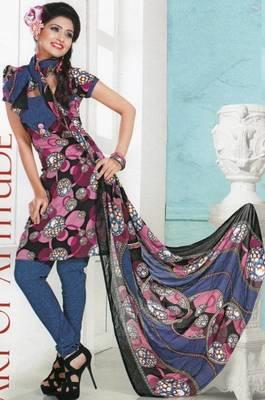 Dress Material Crepe Designer Prints Unstitched Salwar Kameez Suit D.No AP703