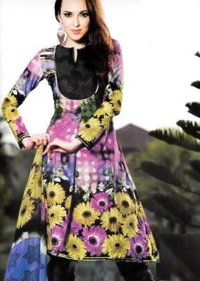 Cotton Dress Material With Chiffon Dupatta Unstitched Suit D.No 2558
