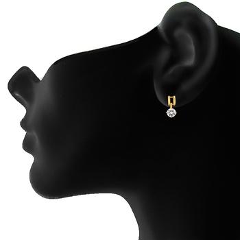 Mahi Golod Plated Bold Vogue Earrings