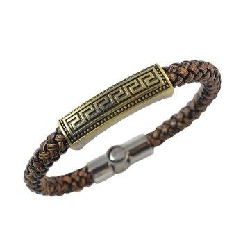 Brown Stylish Leather Bracelet for Men