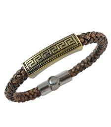 Buy Brown Stylish Leather Bracelet for Men Bracelet online