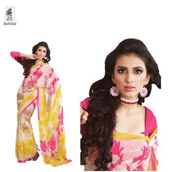 Party Wear Sari Kaju4714
